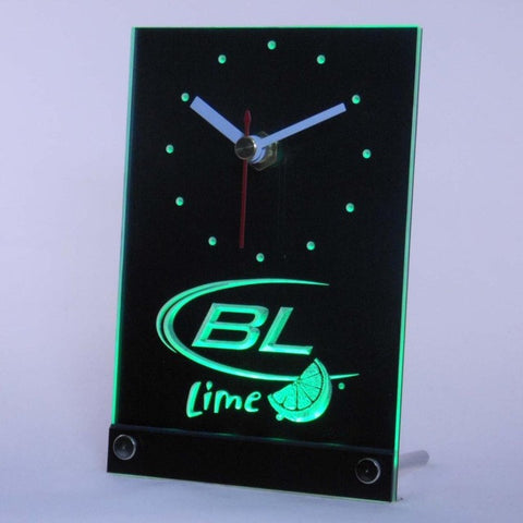 Bud Light Lime Beer Bar Table Desk 3D LED Clock