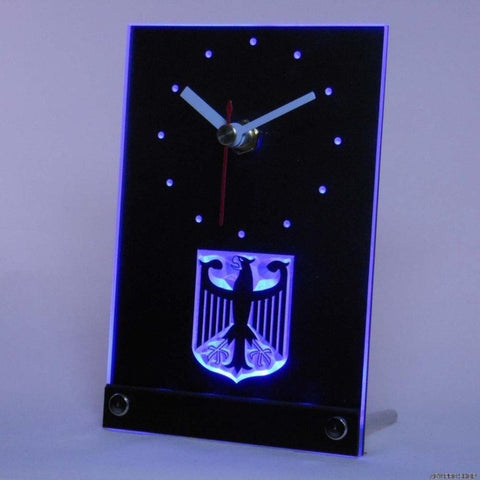 German Eagle Flag Table Desk 3D LED Clock