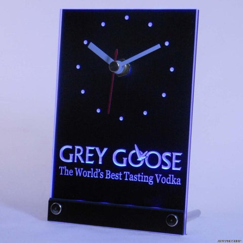 Grey Goose Vodka Bar Beer Table Desk 3D LED Clock