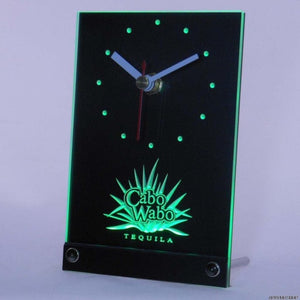 Cabo Wabo Tequila Bar Beer Table Desk 3D LED Clock
