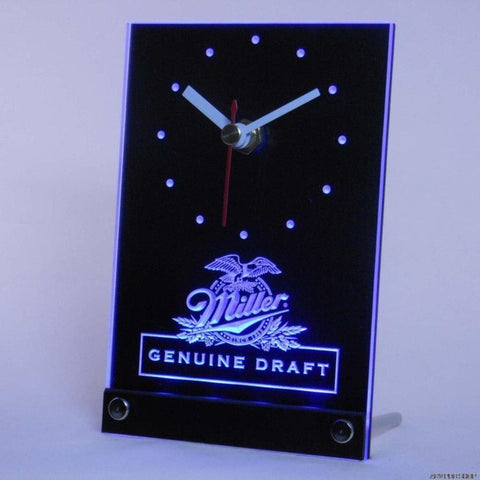Miller Beer Draft Bar Table Desk 3D LED Clock