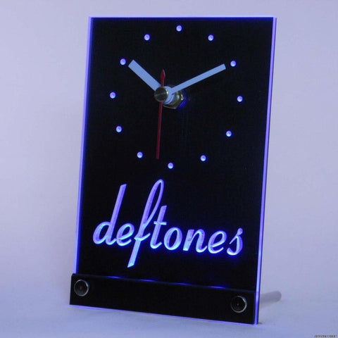 deftones Punk Music Bar Beer Table Desk 3D LED Clock
