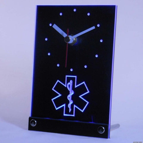 EMS Paramedic Medical Services Table Desk 3D LED Clock