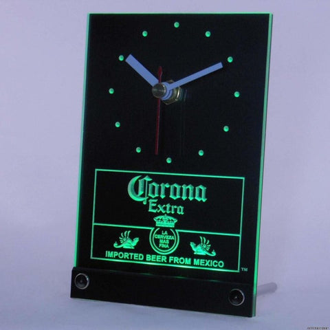 Corona Mexican Beer 3D LED Table Desk Clock