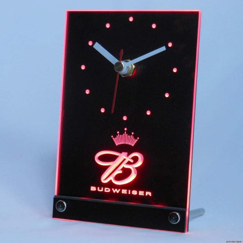 Budweiser King Beer 3D LED Table Desk Clock