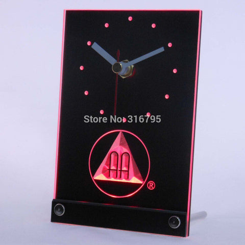 Alcoholics Anonymous AA Beer 3D LED Table Desk Clock