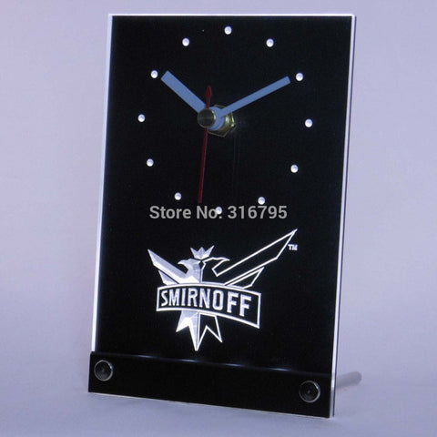 Smirnoff Beer 3D LED Table Desk Clock