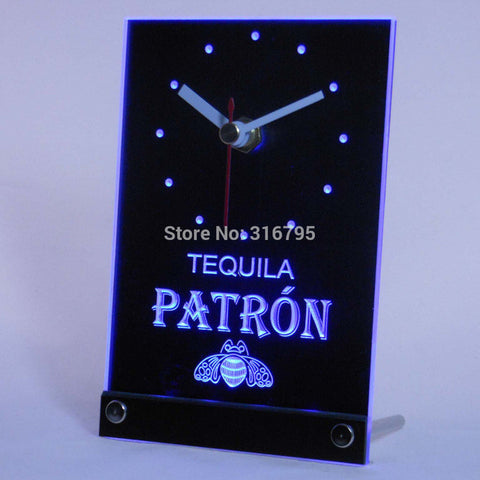 Tequila Patron Beer 3D LED Table Desk Clock