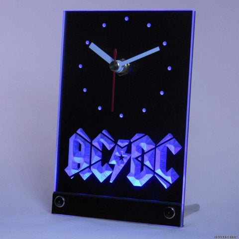 ACDC AC/DC Band Music Bar Club Table Desk 3D LED Clock