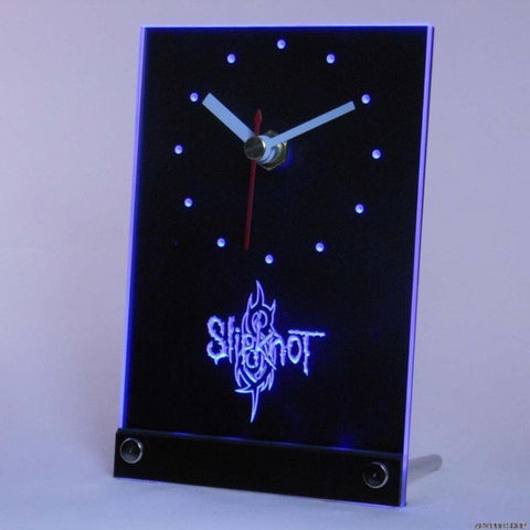 Slipknot Band Logo Rock n Roll Table Desk 3D LED Clock