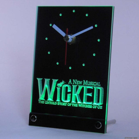 Wicked The Musical Bar Beer Table Desk 3D LED Clock