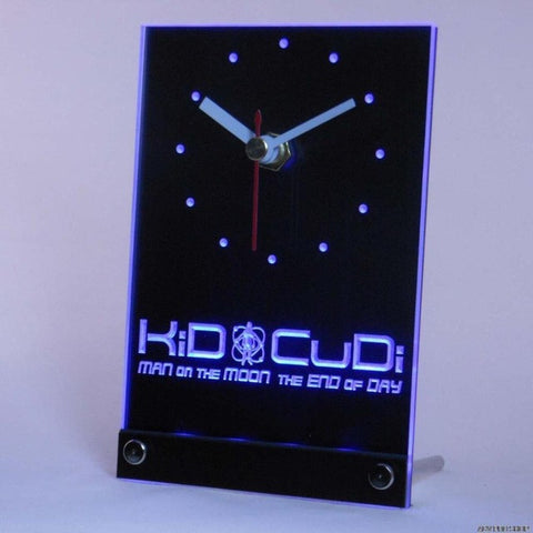 Kid Cudi Man On The Moon End of Day Table Desk 3D LED Clock