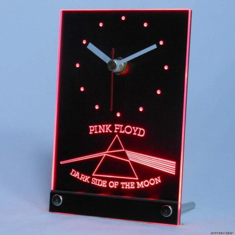 Pink Floyd Rock n Rock Bar Table Desk 3D LED Clock