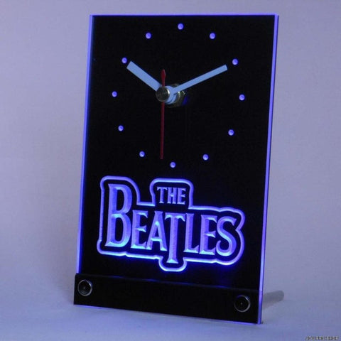The Beatles Band Bar Beer Table Desk 3D LED Clock