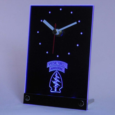 US Army Special Forces Air Borne Table Desk 3D LED Clock