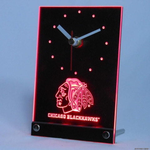 Chicago Blackhawks Table Desk 3D LED Clock