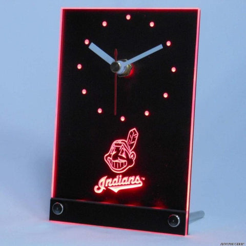 Cleveland Indians Table Desk 3D LED Clock