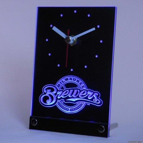 Milwaukee Brewers Table Desk 3D LED Clock