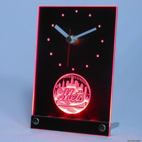 New York Mets Table Desk 3D LED Clock