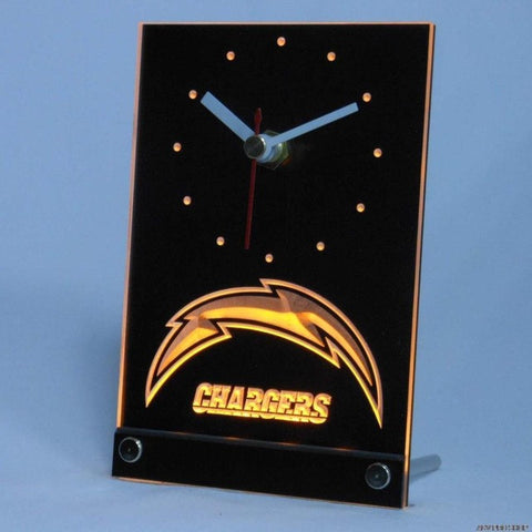 San Diego Chargers Table Desk 3D LED Clock