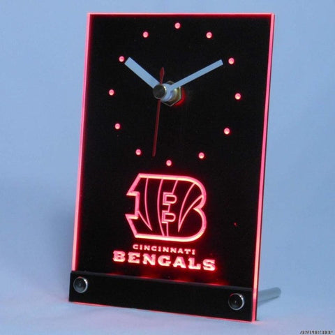 Cincinnati Bengals Table Desk 3D LED Clock