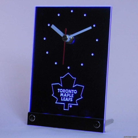 Maple Leafs Table Desk 3D LED Clock