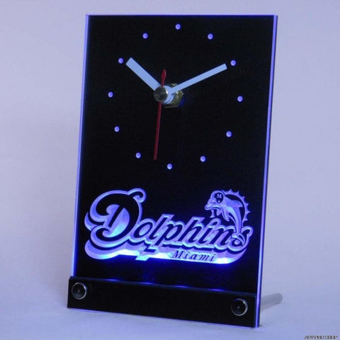 Miami Dolphins Table Desk 3D LED Clock
