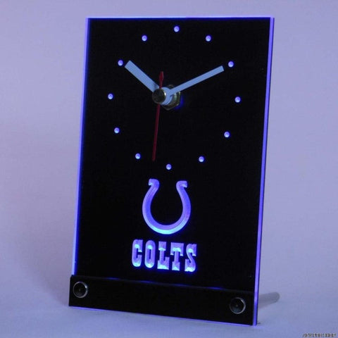 Indianapolis Colts Table Desk 3D LED Clock