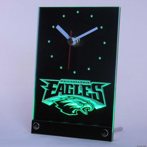 Philadelphia Eagles Table Desk 3D LED Clock