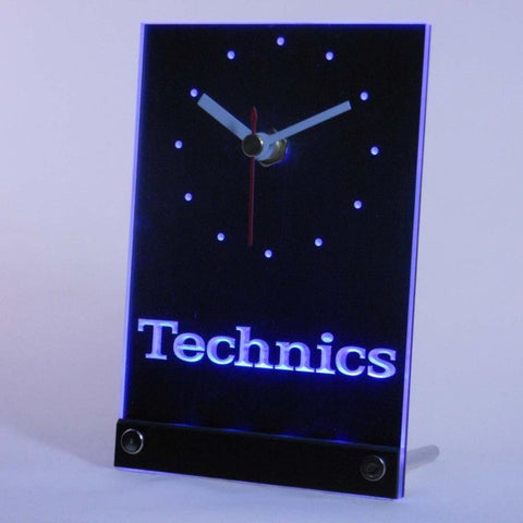 Technics Turntables DJ Music Table Desk 3D LED Clock