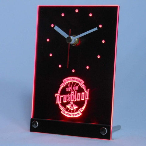 True Blood Table Desk 3D LED Clock