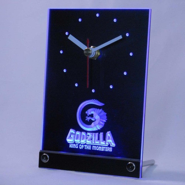 Godzilla King of the Monsters Table Desk 3D LED Clock