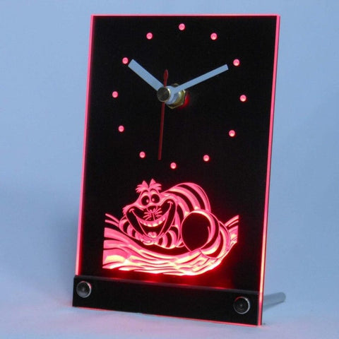 Cheshire Cat Table Desk 3D LED Clock