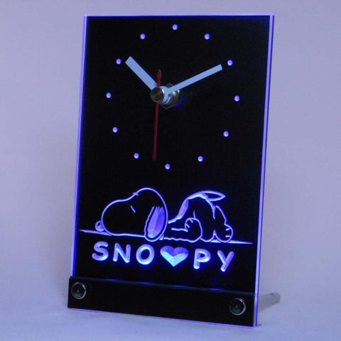Snoopy Dog Cartoon Table Desk 3D LED Clock