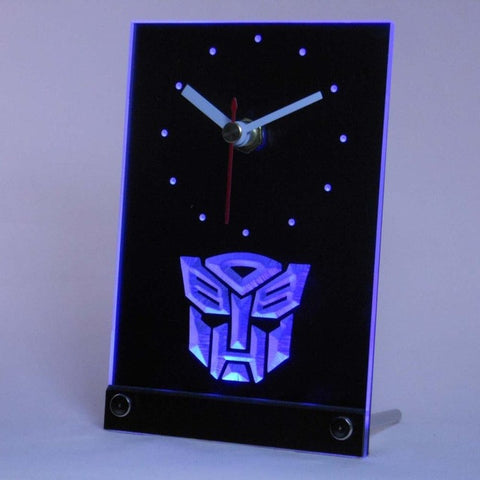 Autobot Transformers Robot Hero Table Desk 3D LED Clock