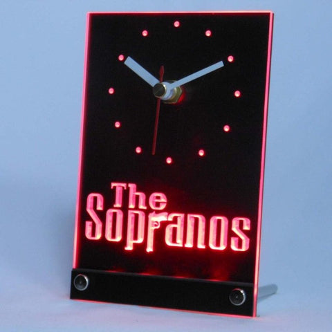 The Sopranos Gun Table Desk 3D LED Clock