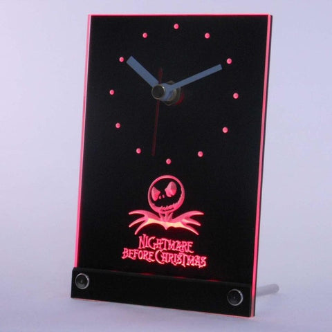 Nightmare Before Christmas Table Desk 3D LED Clock