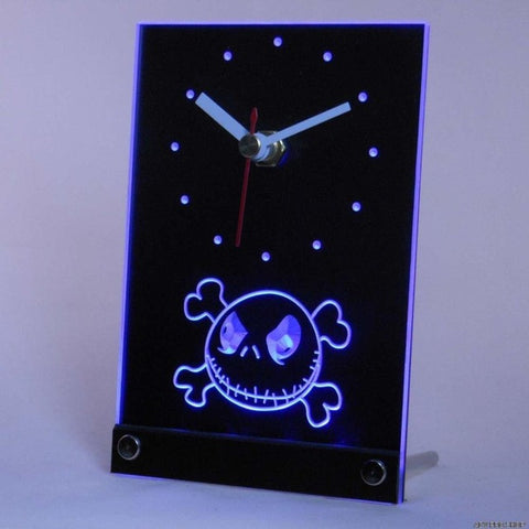 Nightmare Before Christmas Jack Table Desk 3D LED Clock