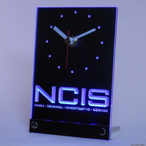 NCIS Naval Criminal Investigative Table Desk 3D LED Clock