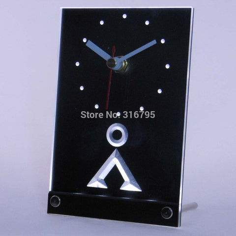 Stargate SG-1 Milky Way Glyphs 3D LED Table Desk Clock