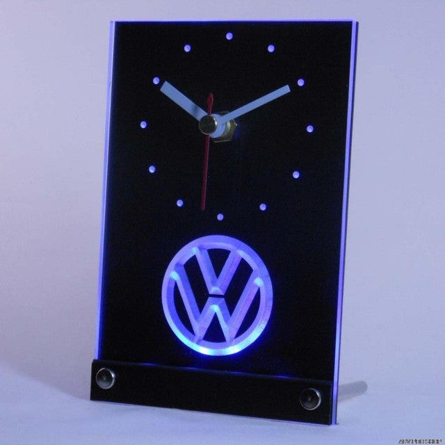 Volkswagen VW Car Table Desk 3D LED Clock
