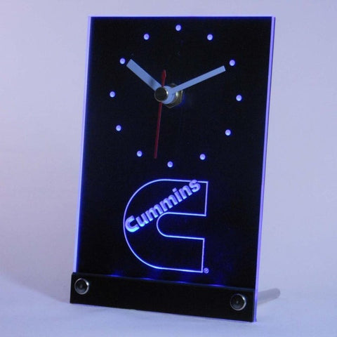 Cummins Car Tire Auto Equipment Tool Table Desk 3D LED Clock
