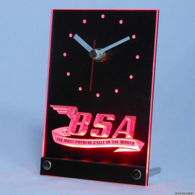 BSA Motorcycles Cycle Table Desk 3D LED Clock