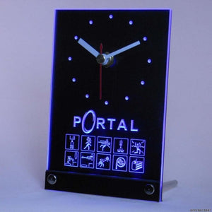Portal Game Table Desk 3D LED Clock