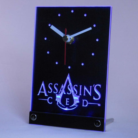 Assassins Creed Game Table Desk 3D LED Clock