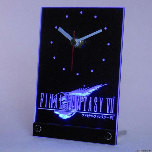 Final Fantasy VII FF7 PS2 Table Desk 3D LED Clock