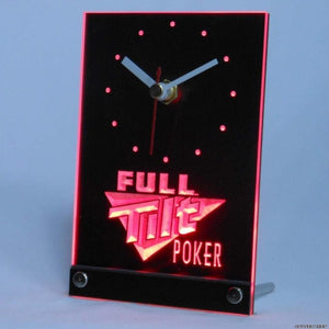 Full Tilt Poker Table Desk 3D LED Clock
