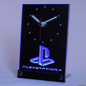 Playstation PS3 Game Room Table Desk 3D LED Clock
