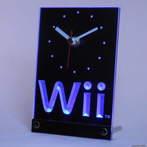Wii Game Room Table Desk 3D LED Clock