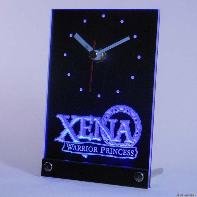 Xena Warrior Princess Table Desk 3D LED Clock